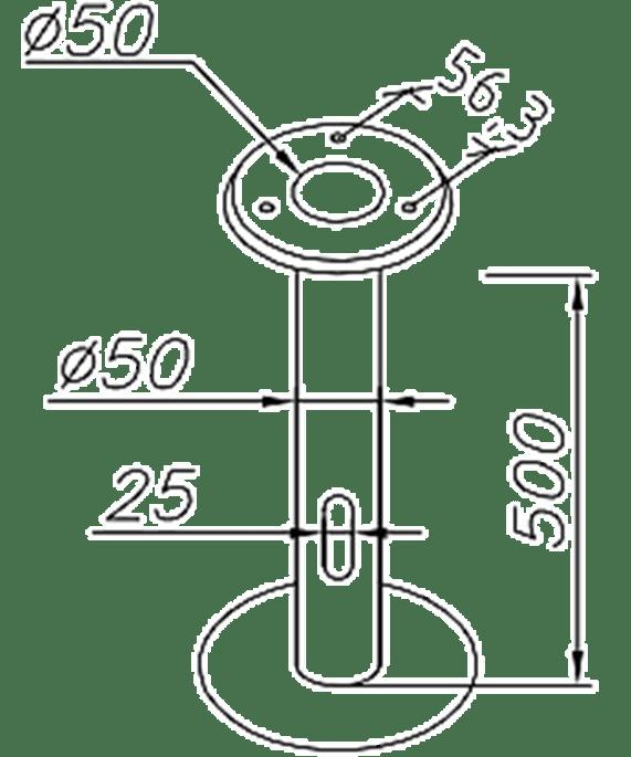 """Norly Erdbodenhalter Verzinkt """"Oppland, Halmstadt"""" Art. 206ZZ"""