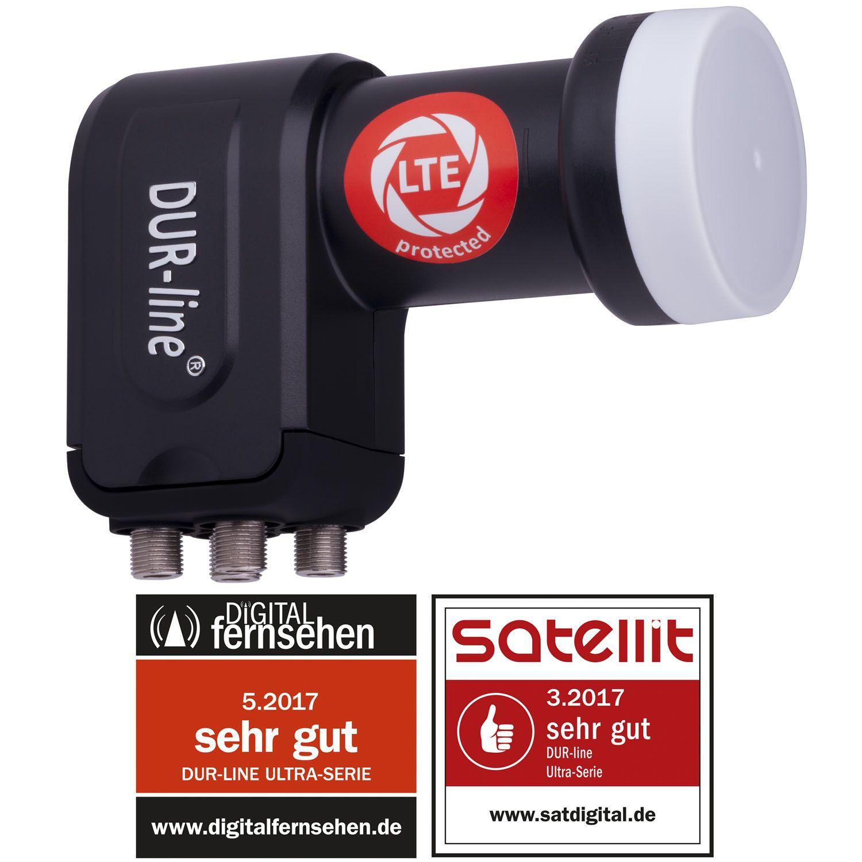 DuraSat Ultra Quad - LNB DUR-line + LNB Für 4 Teilnehmer - Mit integrierten LTE- und DECT-Filtern gegen Störfrequenzenn- LNB Für 4 Teilnehmer - Mit integrierten LTE- und DECT-Filtern gegen Störfrequenzenn