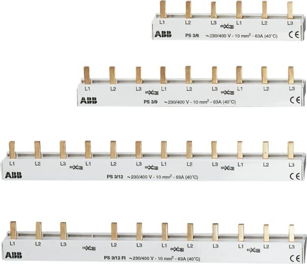 ABB PS3/12FI - Phasenschiene 8SI + FI  2CDL230002R1012