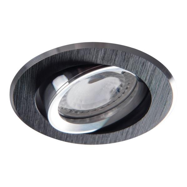 Kanlux Einbaustrahler schwarz eloxiert 72er Einbauloch