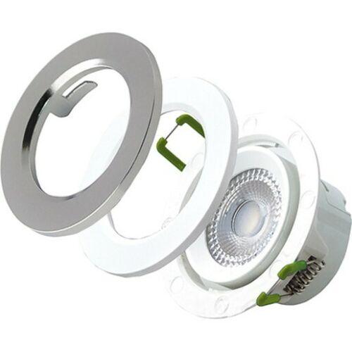 Luceco LED Einbaustrahler 7W 3000K 450lm  dimmbar 68er schwenkbar weiss/chrom EDLA45D30