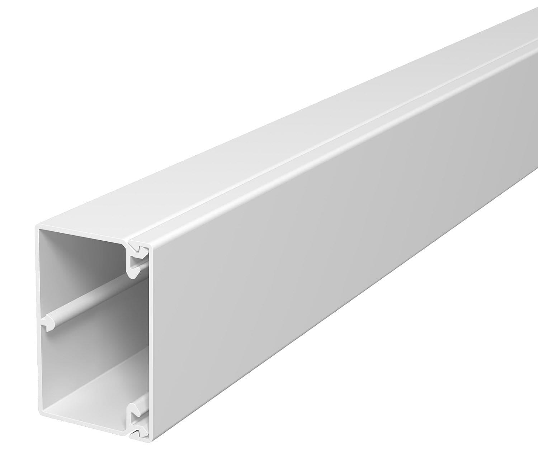 OBO Bettermann 40x60 WDK40060RW Wand+Deckenkanal mit Bodenlochung 40x60mm 2 Meter PVC reinweiss