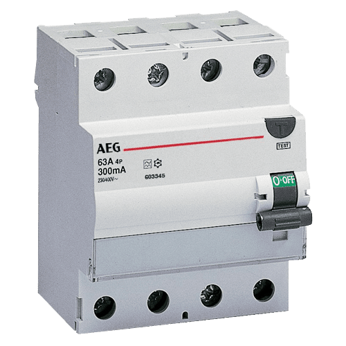 AEG FP A 4 40/030 - FI-Schalter 4P Typ A 40A, 30mA, 4TE 4TQA603408R0000