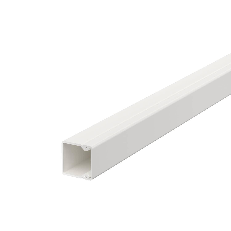 OBO Bettermann 20x20 WDK20020RW Wand+Deckenkanal mit Bodenlochung 20x20mm 2 Meter PVC reinweiss