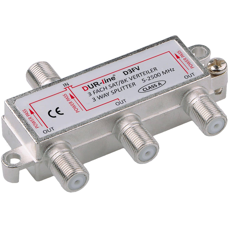 DuraSat BK/SAT-Verteiler 3Fach DUR-line D3FV  5-2500 MHz mit DC-Durchlass