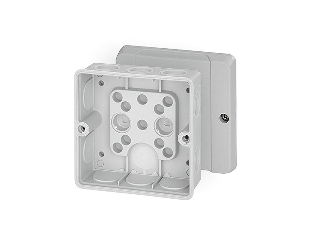 Hensel Abzweigdose DE 9340 98x98x55 IP55 mit Dichtmembranen max 4mm²