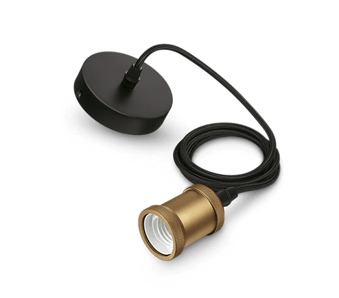 Philips Vintage LED Pendel mit E27 Farbe Gold 2 Meter 167779