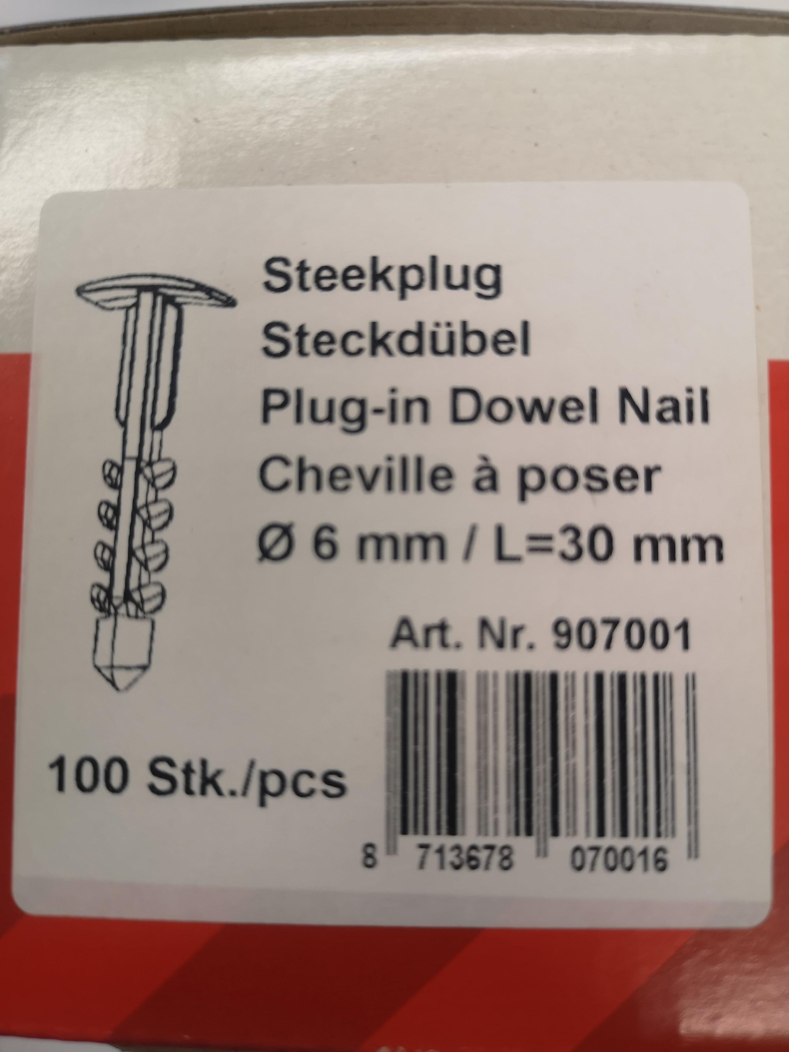 Don Q. Steckdübel für Wand-/Deckenkanal #907001