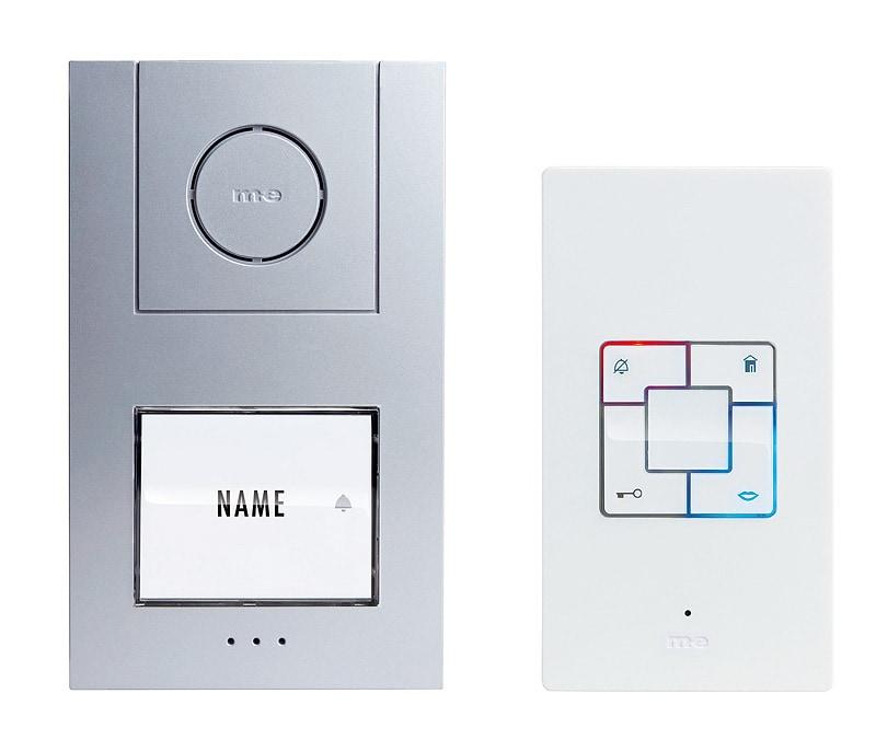 M-E  Audio-Türsprechanlage ALU 1-Familienhaus Set Aufputz AD ALU 4010 S