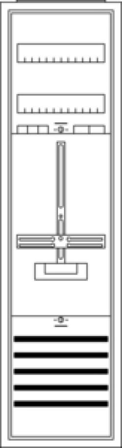 Striebel & John Komplettschrank KS200 1 Zähler  1100 x 300 x 215 2CPX035868R9999