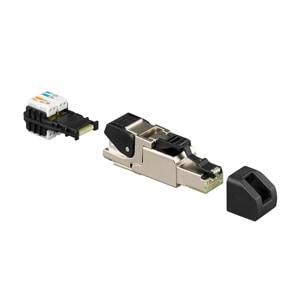 Rutenbeck Cat.6A iso A Universalstecker, RJ45, geschirmt, feldkonfektionierbar, ohne Spezialwerkzeuge 13900321