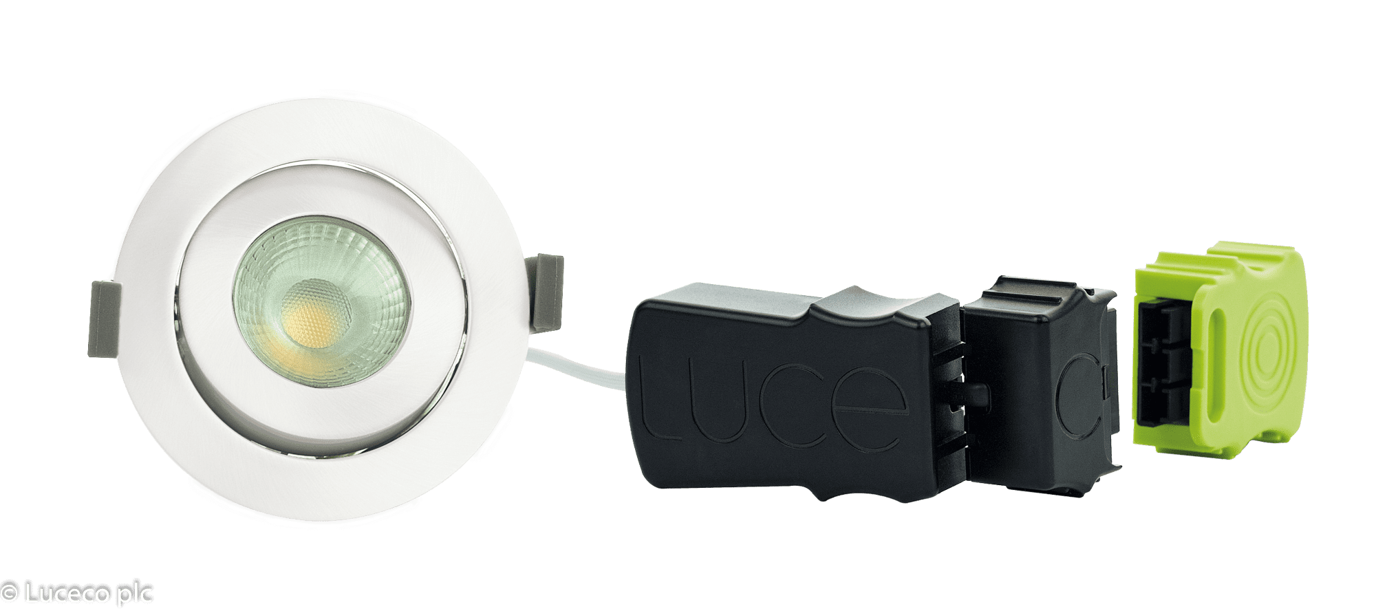 "Luceco LED Einbaustrahler schwenkbar weiß ""Element"" 8W  3000K 800lm dimmbar LDEA9W8D30weiß"