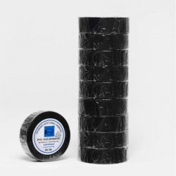 V. Krog Isolierband 10 m x 19 mm schwarz selbstklebend & elastisch VDE geprüft