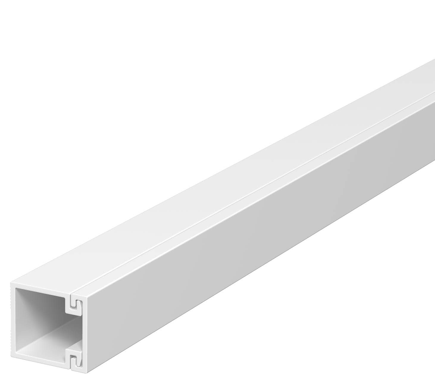 OBO Bettermann 15x15 WDK15015RW Wand+Deckenkanal mit Bodenlochung 15x15mm 2 Meter PVC reinweiss