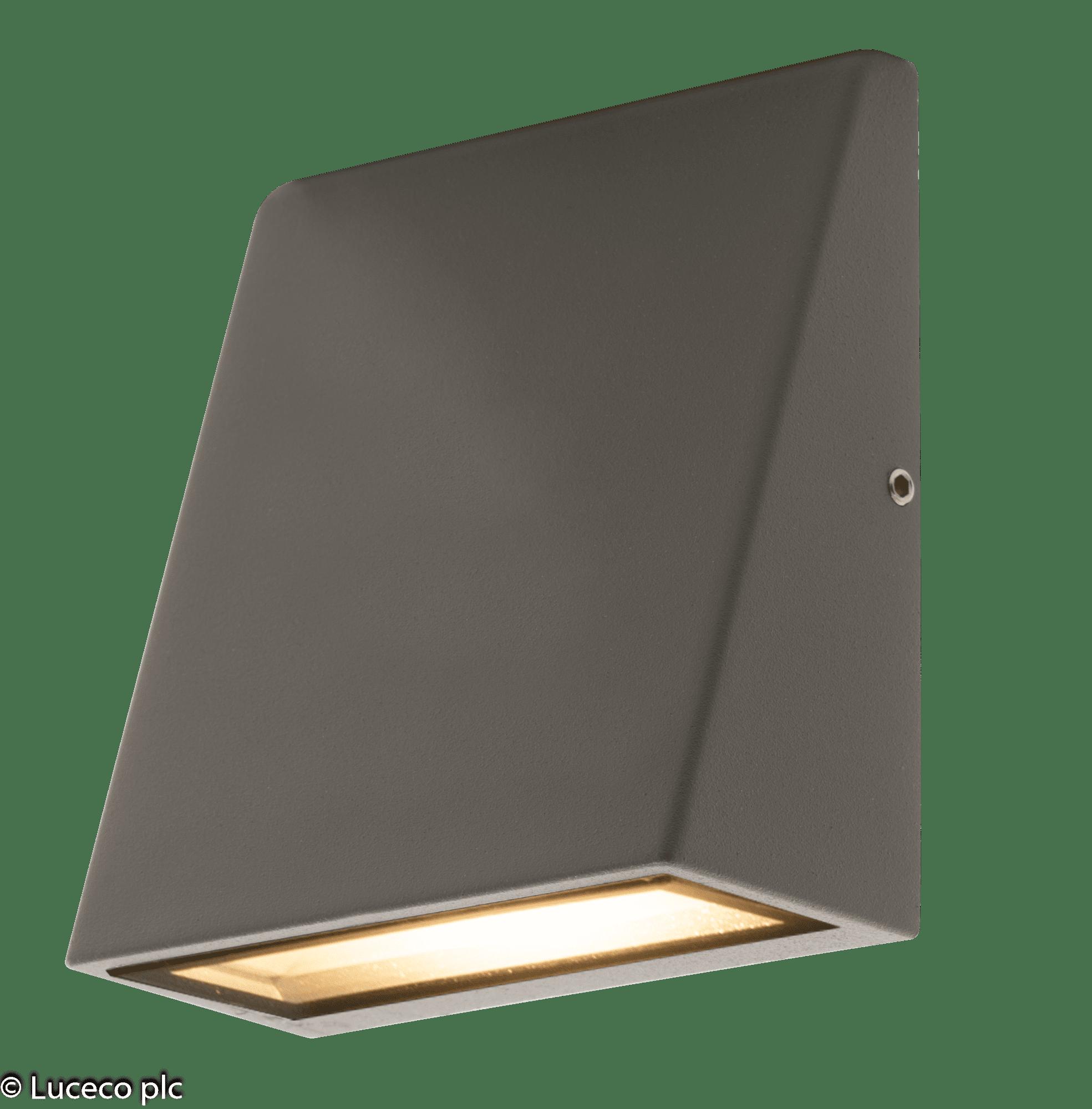 Luceco Dekorative LED Wand-Außenleuchte warmweiß 3W 120lm 3000K #LEXD3WDG3
