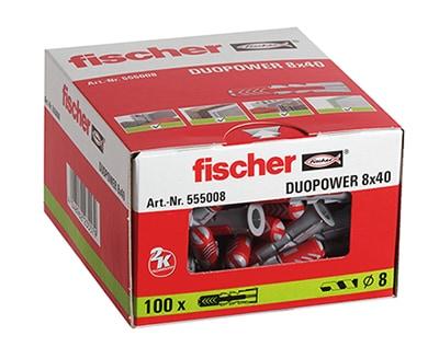 fischer Dübel DUOPOWER 8 x 40 VPE100 #555008