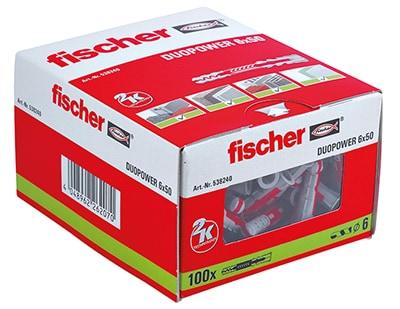 fischer Dübel DUOPOWER 6 x 50 VPE100