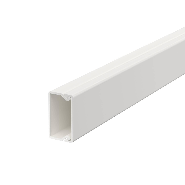 OBO Bettermann 15x30 WDK15030RW Wand+Deckenkanal mit Bodenlochung 15x30mm 2 Meter PVC reinweiss