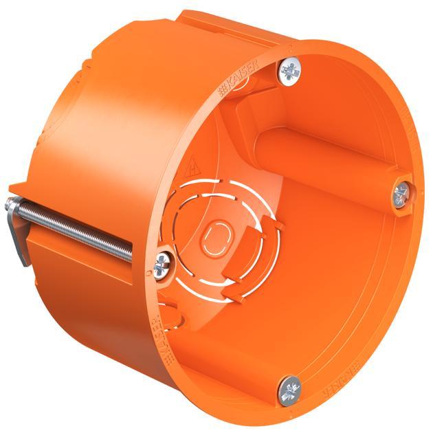 Kaiser 9063-02 Hohlwand Gerätedose mit Geräteschrauben Tiefe 49mm