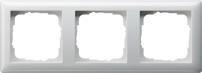 Gira 3F-Abdeckrahmen 021303 Standard 55 Reinweiß glänzend