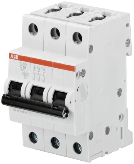 ABB S203-C16 Sicherungsautomat 6kA 16A C 3polig