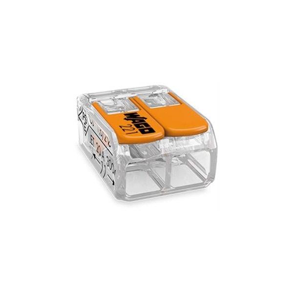 WAGO 221-412 2-Leiter starr/flexibel Kabel bis 4mm² Compact-Verbindungsklemme VPE100